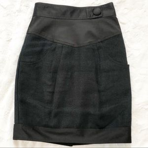 Nanette LePore Pencil Textured Skirt